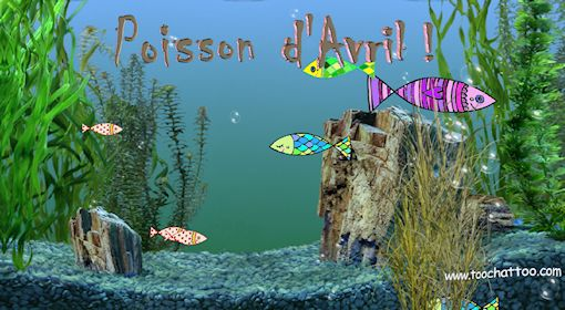 Fond ecran anime poisson d 39 avril for Fond ecran gratuit aquarium
